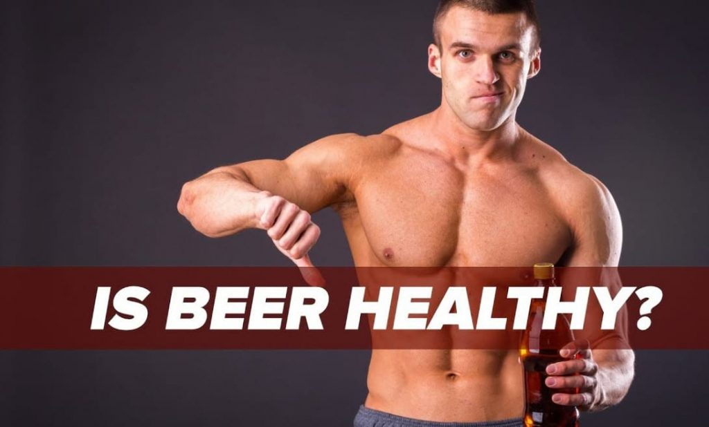 bodybuilding and drinking beer